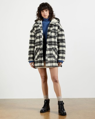 Ted Baker Check Hooded Coat