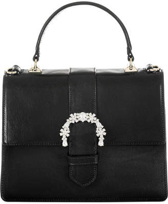Brahmin Black Topsail Leather Luxe Mini Francine Satchel