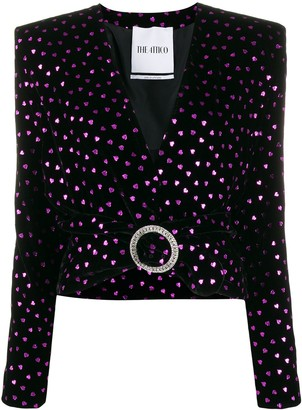 ATTICO Heart Print Cropped Jacket