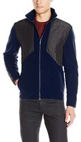 Calvin Klein Men's Mixed Media Full Zip Polar Fleece Jacket
