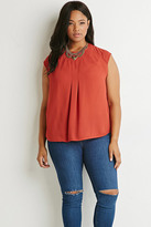 Forever 21 Plus Size Pleated Chiffon Blouse
