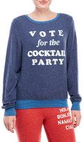 Wildfox Couture Happy Hour Vote Monte Crop Sweatshirt