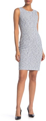 St. John Nimes Tweed Sleeveless Sheath Dress