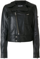 Just Cavalli fitted biker jacket