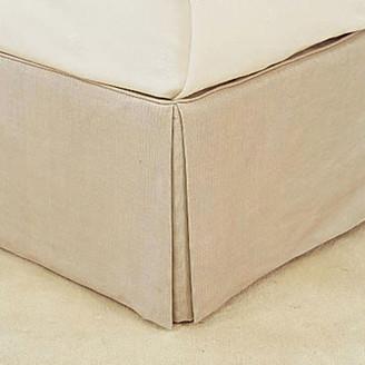 OKA Bed Valance 100% Cotton, King Size - Natural