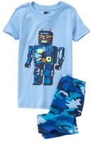 Crazy 8 Robot Two-Piece Shortie Pajama Set