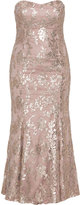 Ariella Plus Size Sequin embroidered evening gown