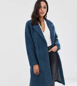 MBYM belted wool coat-Blue