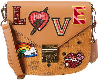 MCM Love Patch Visetos Shoulder Bag
