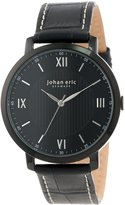 Johan Eric Men's JE1700-13-007 Koge Round Stainless Steel Genuine Leather Watch