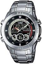 Casio Edifice EFA-115D-1A1VEF Women's Analog and Digital Quartz Multifunction Watch with Steel Bracelet