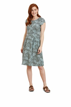 Mountain Warehouse Cannes Short Sleeve Womens Pocket Dress - Lightweight Ladies Clothing Breathable Easy Care - Best for Holidays Beach Travelling