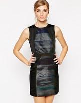American Retro Janis Metallic Striped Dress