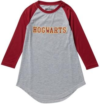 Intimo Harry Potter Hogwarts Long Sleeve Raglan Nightgown (Little Girls & Big Girls)