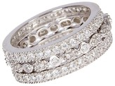 Thumbnail for your product : Sterling Forever 3-Row Crystal and Sterling Silver Band Ring