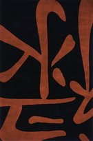 """Momeni Rugs KOI00KO-05BLK5380 Koi Collection, 100% Wool Hand Carved & Tufted Transitional Area Rug, 5'3"""" x 8'"""
