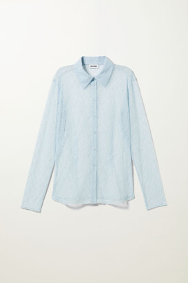 Weekday Lydia Lace Shirt - Black