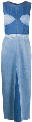 MM6 MAISON MARGIELA Fitted Denim Midi Dress