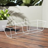 cb2 oscar hi gloss white rectangular rail frame
