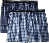 Hanes Red Label Men's 2-Pack Exposed Waistband Woven Boxers