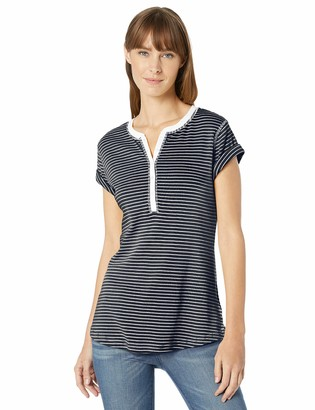 Chaps Women's Short Sleeve Cotton Henley