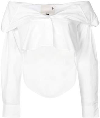 R 13 off-shoulder shirt