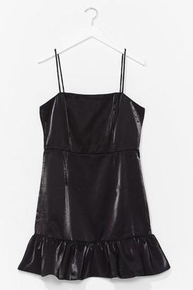 Nasty Gal Womens Sheen It All Before Ruffle Mini Dress - Black - 6, Black