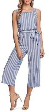CeCe Striped Cropped Jumpsuit