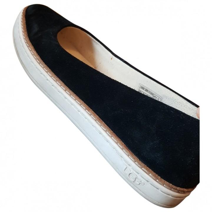 Michael Kors Black Suede Flats - ShopStyle