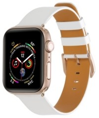 Posh Tech Unisex White Patent Leather Replacement Band for Apple Watch, 42mm