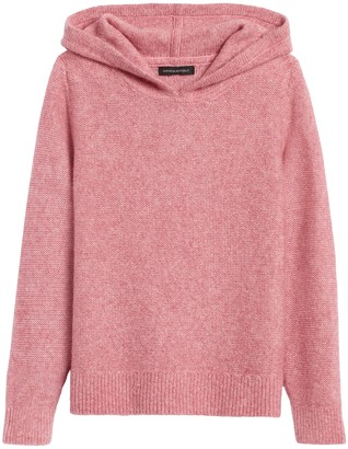 Banana Republic Petite Merino-Blend Cropped Sweater Hoodie