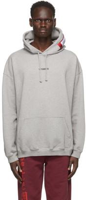 Vetements Grey Logo Patch Hoodie
