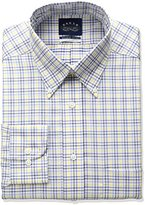 Eagle Men's Non Iron Flex Collar Regular Fit Check Buttondown Collar Dress Shirt