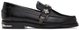 Toga Virilis Black Hard Leather Loafers