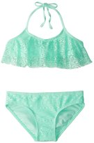 Gossip Girls' Gypsy Breeze Crochet Halter Bikini Set (716) - 8153959