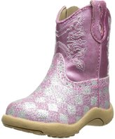 Roper Cowbaby Glitter Checkerboard Western Boot (Infant/Toddler)