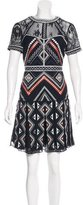 Parker Embroidered Lace-Accented Dress w/ Tags