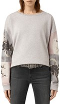 AllSaints Belle Lo Floral Sleeve Sweatshirt