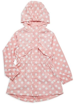 Urban Republic Little Girl's Polka Dot Faux Leather Raincoat