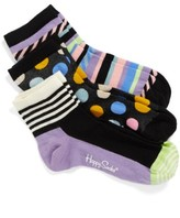 Happy Socks Women's Assorted 3-Pack Ankle Socks
