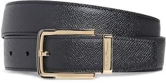Salvatore Ferragamo Gold Buckle Reversible Belt