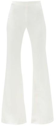 Galvan Flared-leg Satin-crepe Trousers - White