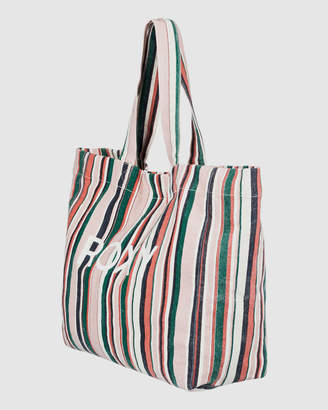 Roxy Anti Bad Vibes Canvas Tote Bag
