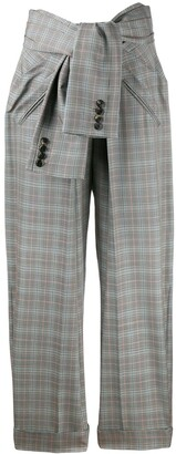 Alexander Wang tie waist check trousers