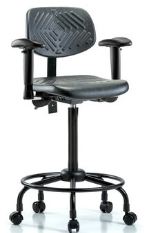 Blue Ridge Ergonomics Drafting Chair Casters/Glides: Casters, Tilt Function: Included