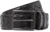 Bottega Veneta - 3cm Black Intrecciato Leather Belt