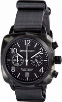 Briston 15140.PBAM.GT.3.NG Clubmaster Classic acetate and canvas chronograph watch