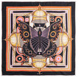 Givenchy Printed Silk-twill Scarf 90x90 - Orange