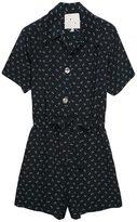 Floral Silk Short Playsuit