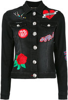 Philipp Plein embroidered denim jacket - women - Cotton/Spandex/Elastane - S